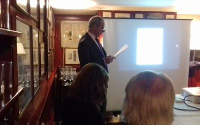 CHRISTMAS SUPPER TALK  AT THE CHELSEA ARTS CLUB  –  GORDON COOKE'S TALK WHISTLER AND THE FINE ART SOCIETY.   29 NOVEMBER 2017.